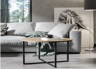 Stolik kawowy 75cm w stylu loft TOLLNES PM
