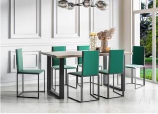 Stół loftowy 140-240cm na czarnych metalowych nogach PABLO PM