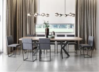 Duży stół rozkładany 200-280 cm industrialny w stylu loft do salonu OSLO PM