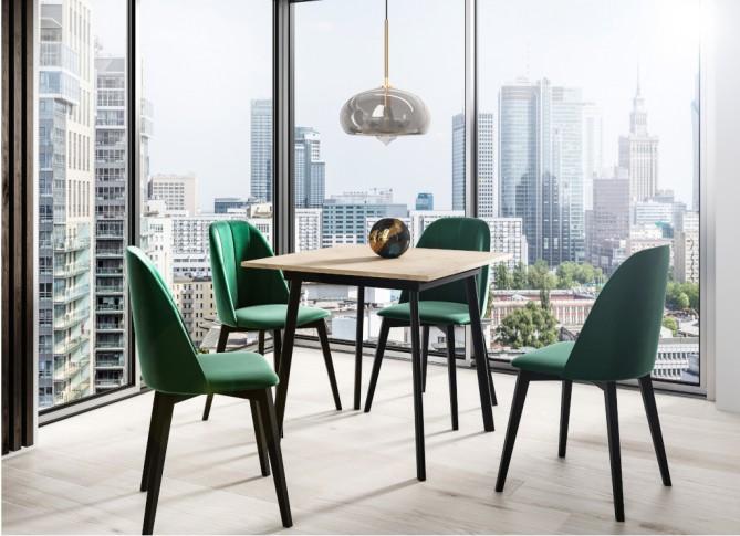 Stół mały rozkładany 90-130 cm kwadratowy loft metal IBSEN PM