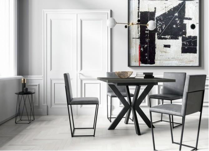 Stół rozkładany 100-140cm w stylu loft  BERGEN PM