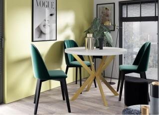 Okrągły stół rozkładany Glamour EDDER 100-180cm PM