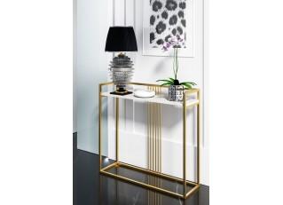 Konsola złota/srebrna metalowa Glamour 100x30 PM