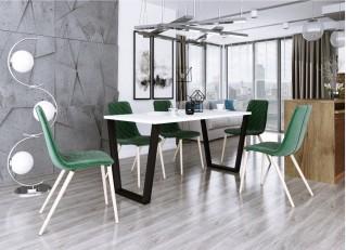 Stół do jadalni CEZAR Biały