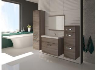 Łazienka Evo Trufel z umywalką i lustrem